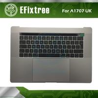 Новый A1707 Topcase верхний корпус с британская раскладка клавиатуры и трекпад для Macbook pro 15 A1707 Великобритании topcase серого и серебряного цветов EMC