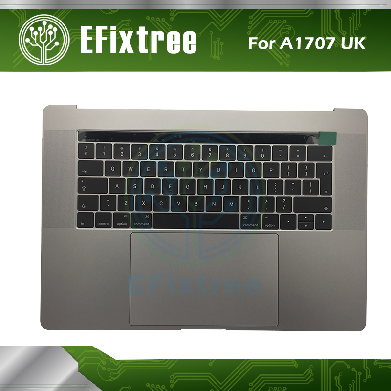 все цены на NEW A1707 Topcase Top Case With Keyboard UK Layout and Trackpad For Macbook pro 15'' A1707 UK topcase Grey Silver EMC 3162 307
