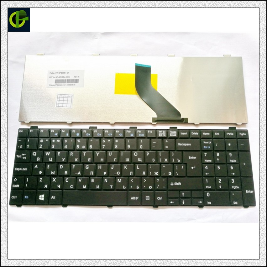 Russian Keyboard for Fujitsu Lifebook A530 A531 AH530 AH531 AH502 NH751 RU BlackRussian Keyboard for Fujitsu Lifebook A530 A531 AH530 AH531 AH502 NH751 RU Black