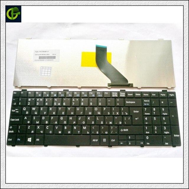 ロシアキーボード富士通 lifebook A530 A531 AH530 AH531 AH502 NH751 ru ブラック