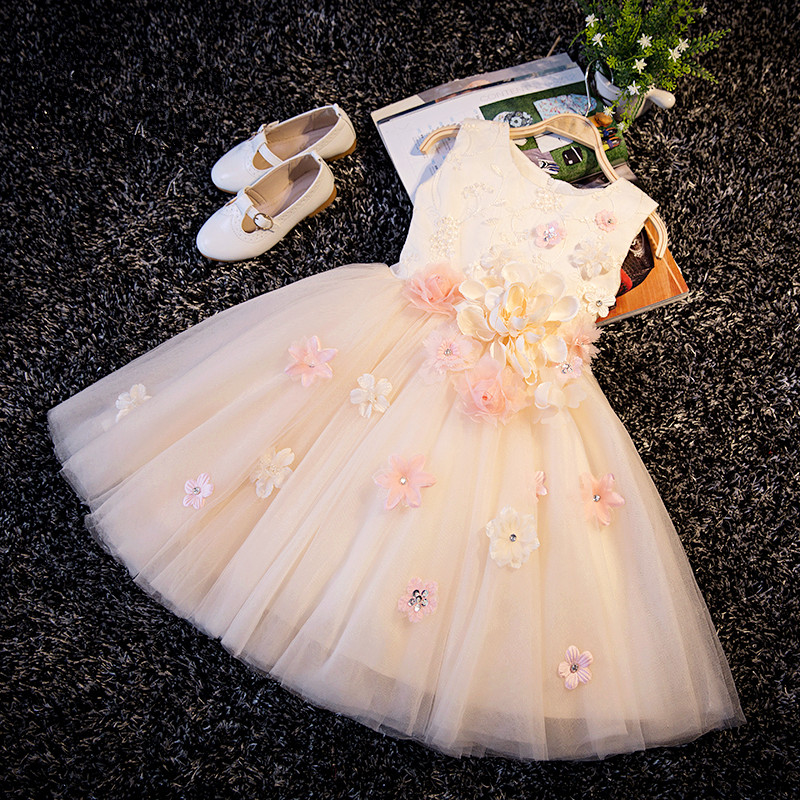 With Sequin Appliques Girl Champagne Christening Wedding Party Pageant Dress Baby ball Gowns Child Bridesmaid Clothing-in Dresses from Mother & Kids on Aliexpress.com | Alibaba Group