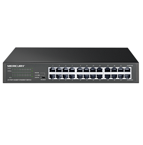 Metal Cabinet 24 Port 1000Mbps Gigabit Enternet Network Switch Auto MDI MDI X Half Full Duplex