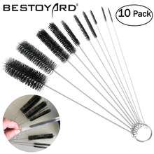 10pcs Nylon Tube Brushes Straw Set For Drinking Straws / Glasses / Keyboards / Jewelry Cleaning Brushes Clean Tools(China)