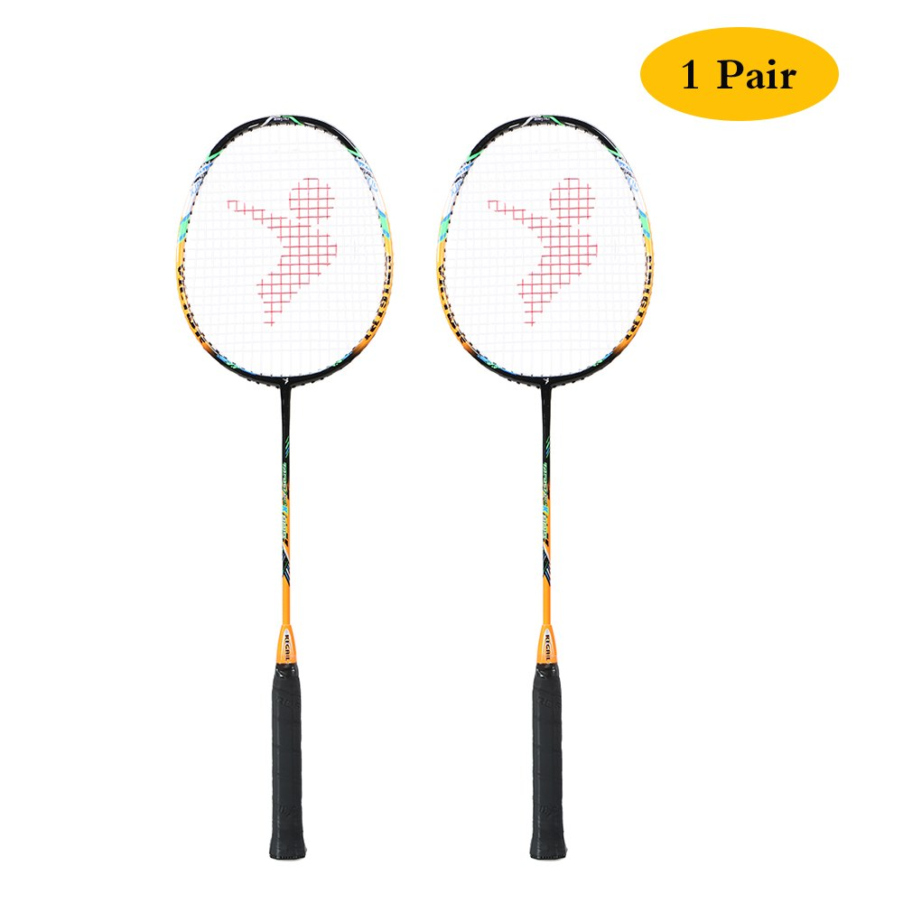 88g Super Light 2Pcs Badminton Racket Replacement Set Newest Badminton Racket High Pound Carbon Fiber Badminton Racquet With Bag
