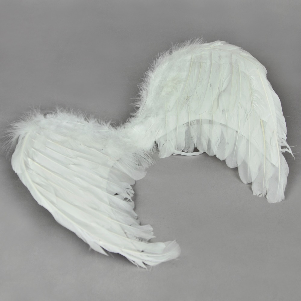 [wamami] Genuine White Fairy Nymph Fallen Angel Costume Feather Wings For 1/3 BJD Doll Dollfie