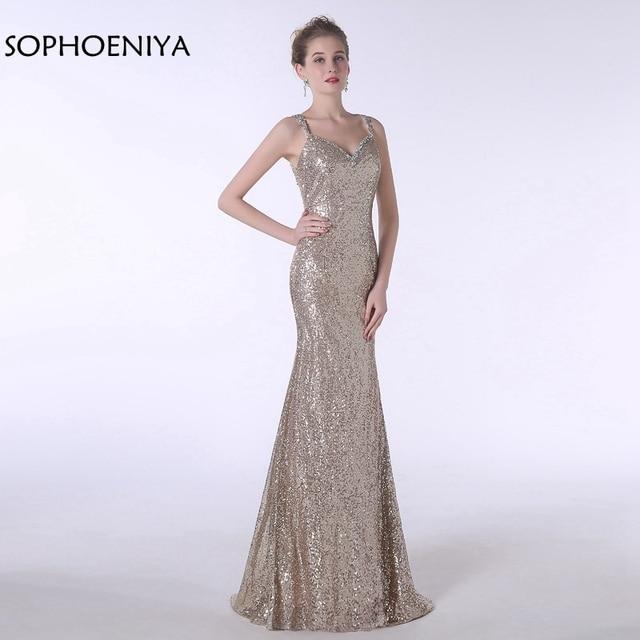 New Arrival Long evening dress 2018 Sequin Lace Evening gowns Plus ...