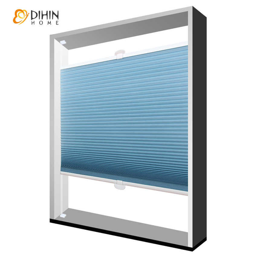 DIHIN HOME Window Curtain Half/Full Blackout Cellular Honeycomb Blinds Shades Home Decor For Living Room Customize Curtains