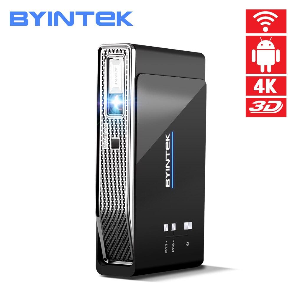 BYINTEK OVNI R15 Smart Android WIFI Video Cine en Casa LED portátil USB Mini HD DLP 3D proyector Full HD 1080 P HDMI 4 K