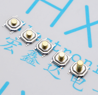 200pcs Tact Switch 4 4 2MM SMD 4 Feet Touch Button Switch Waterproof Copper Head Copper
