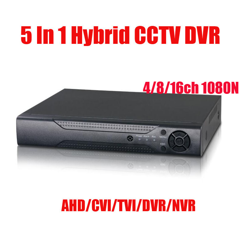5 IN 1 DVR 4Ch 8Ch 16Ch 1080N AHD CVI TVI CVBS NVR Security CCTV DVR NVR HVR Hybrid Onvif Max 6TB 1* SATA interface 5 in 1 4ch ahd dvr nvr hvr cctv 4ch 1080n hybrid security dvr recorder camera onvif rs485 coxial control p2p cloud