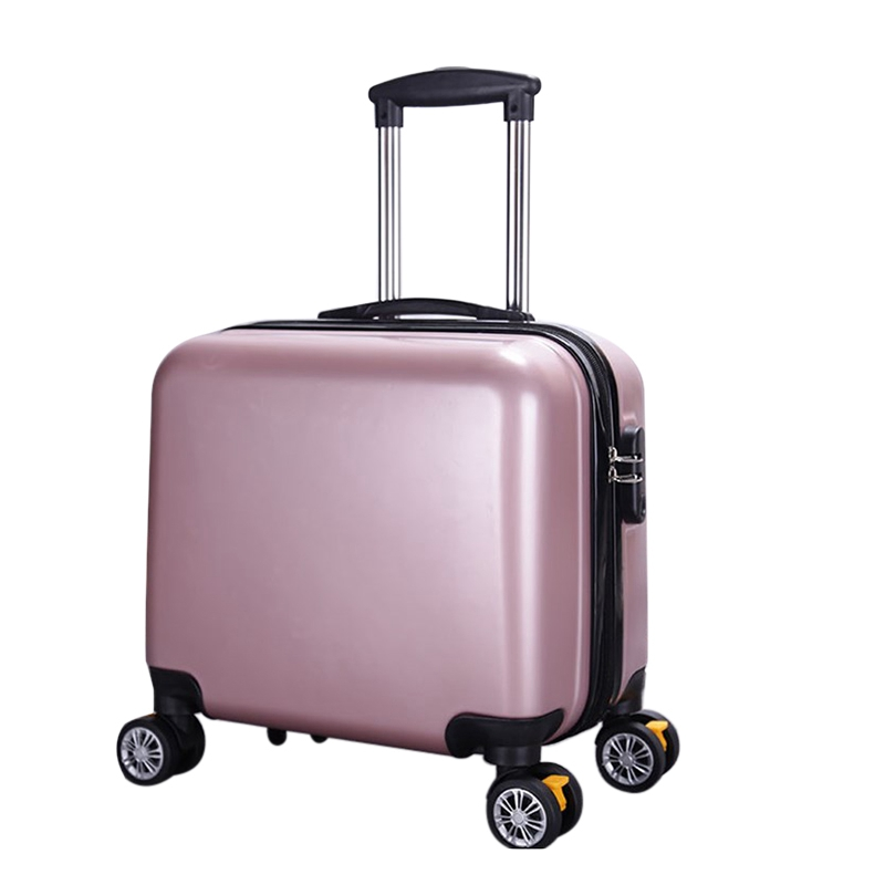 Rolling Suitcase Carry on Luggage Trolley Spinner Luggage Fashion Suitcase Travel ABS Travel Suitcase Luggage Bgs 6colors 18""