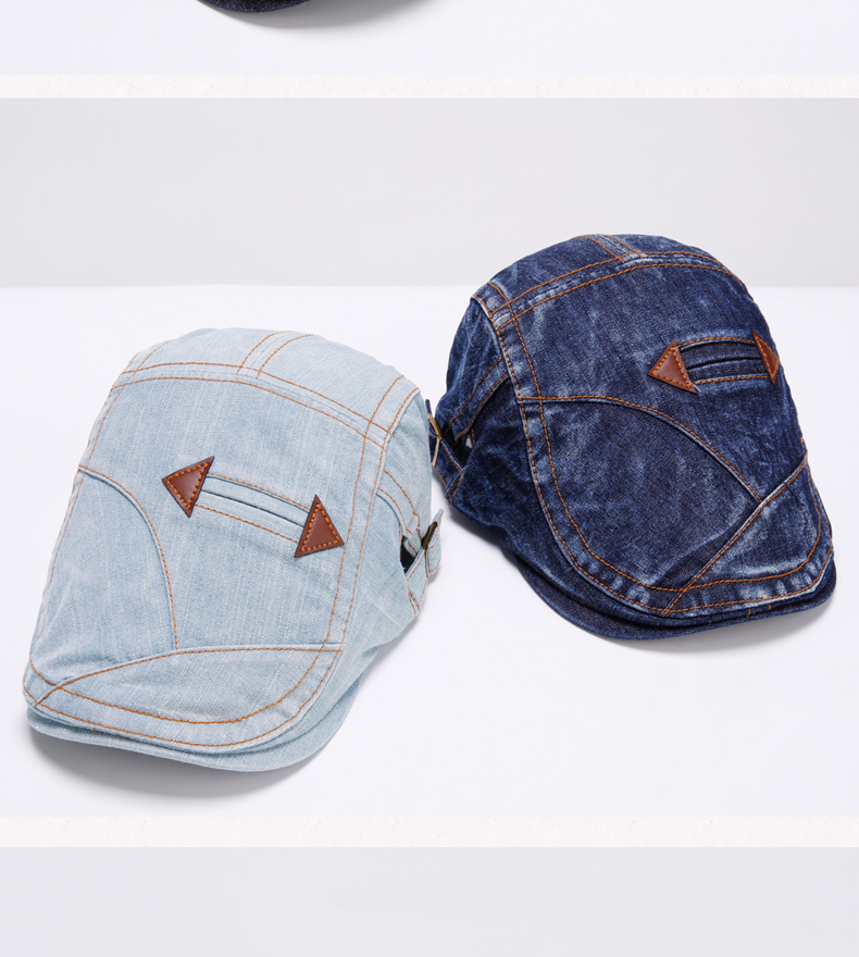Adult Gift Wash old Denim Peaked Cap Outdoors Casual Ivy Hats Woman Autumn  And Winter Beret Caps - us239 56c45ecc35