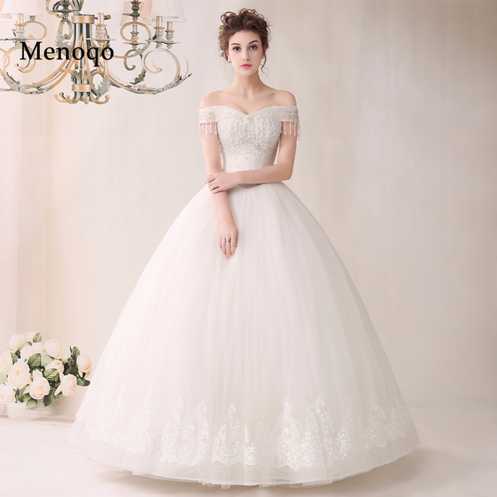 ball gown off shoulder real sample wedding dresses top quality handmade applique beaded organza new fashion