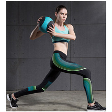 Women Yoga Compression Sports Pants Stripes Elastic Exercise Tights Female Fitness Running Trousers Gym Slim Leggings