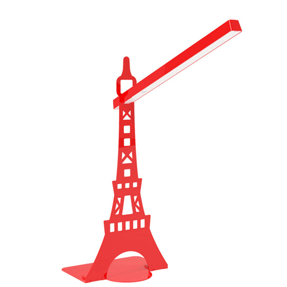 Eye Protect LED Lamp Paris Eiffel <font><b>Tower</b></font> Detachable Led Table Lamp USB Powered Touch Sensor Control Reading Desk Lamp for Bedroom