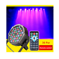 High Quality 36LEDs Dyed Lights UV Bar With Remote Control Sound Control Activated DMX Par DJ
