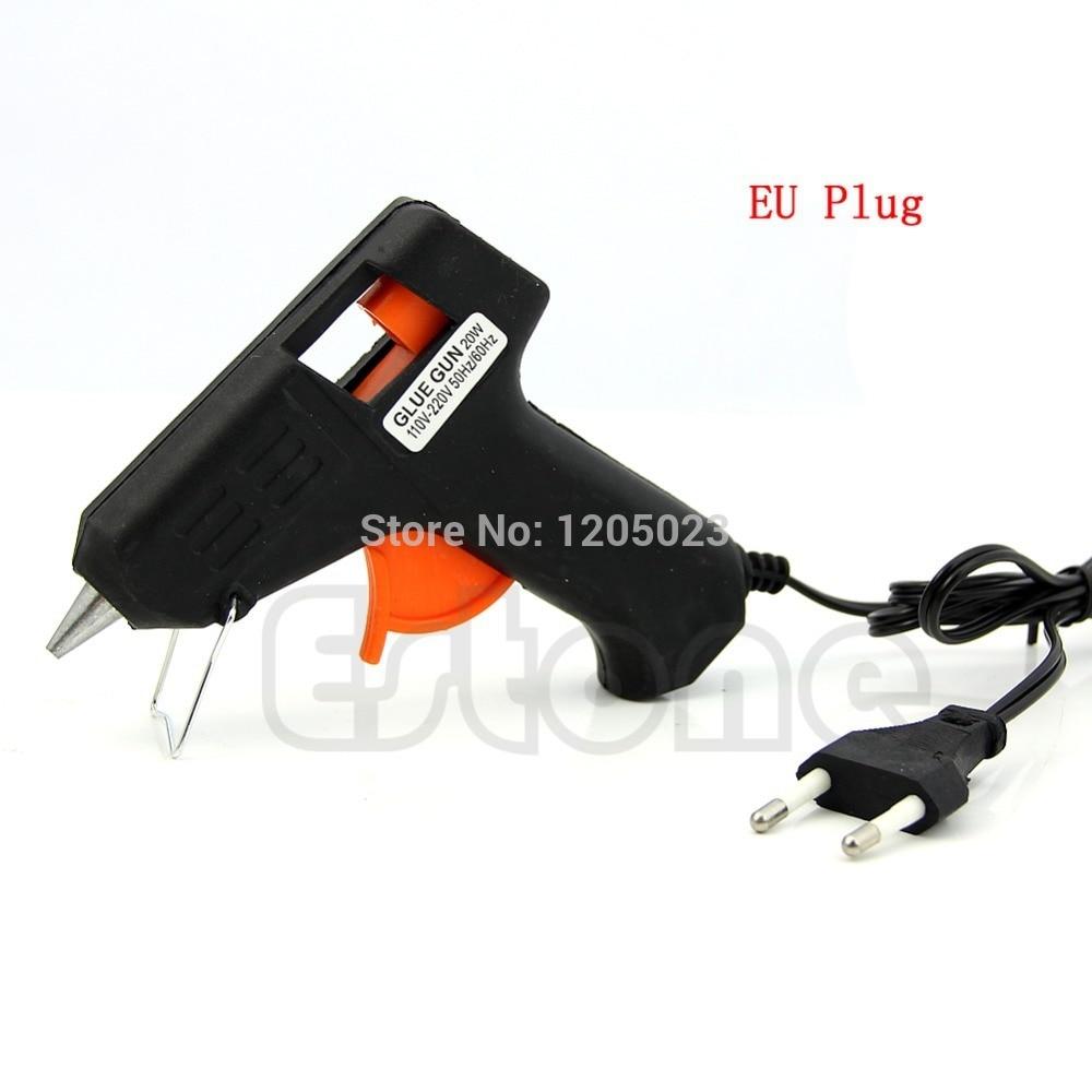 S103 1PC Art Craft Repair Tool 20W Electric Heating Hot Melt Glue Gun Sticks Trigger EU Plug