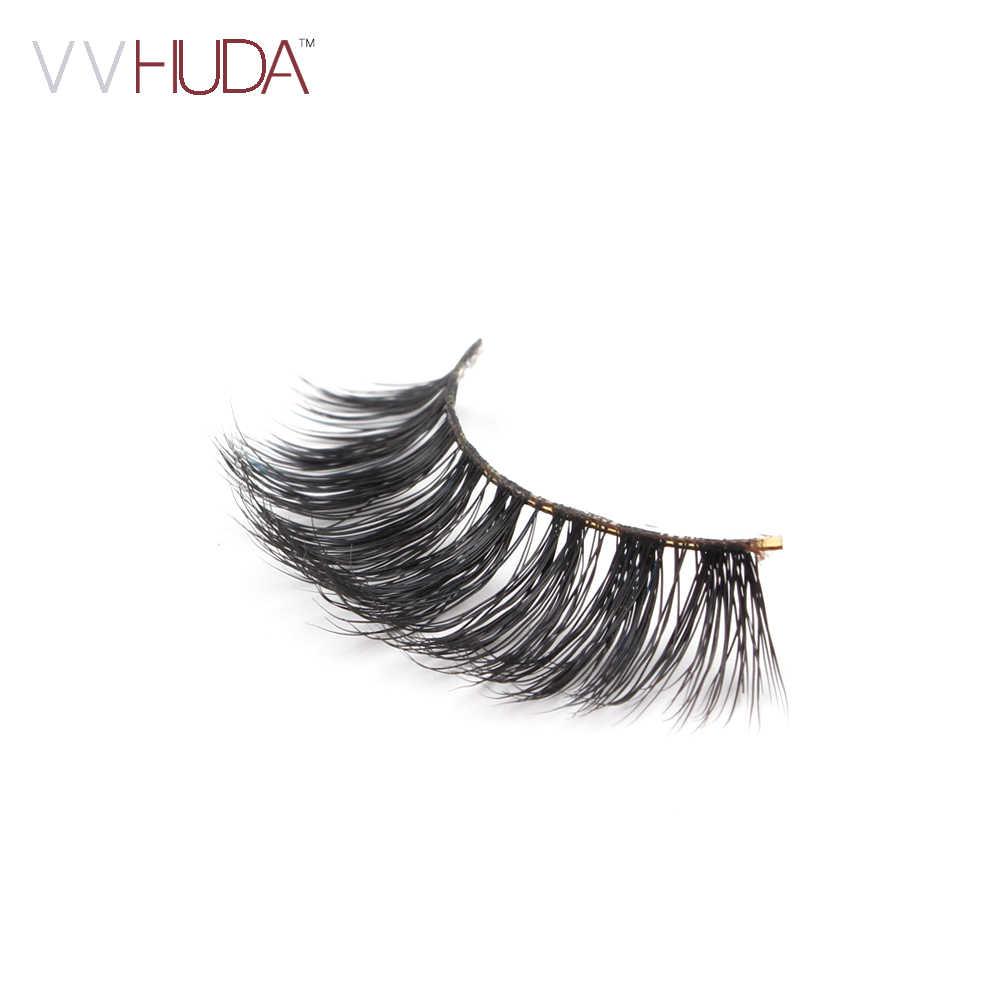 5afd3b1feb8 ... VVHUDA 3D Mink Lash False Eyelashes Hand-made Long Thick Voluminous  Fake Lashes Collection Natural ...