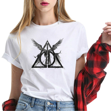 699b4ee0 Big Sale Harry Shirt Women Potter Tops Wings Tees Lady Summer Short Sleeve  Cotton T Shirt