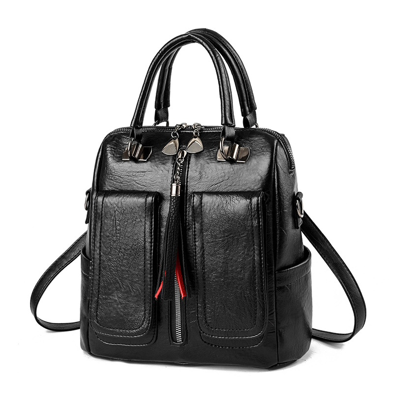 Image 2 - Z.L.D. new Multifunctional female bag Laptop backpack woman pu leather luxury backpack Teenage girl backpack student school bags-in Backpacks from Luggage & Bags