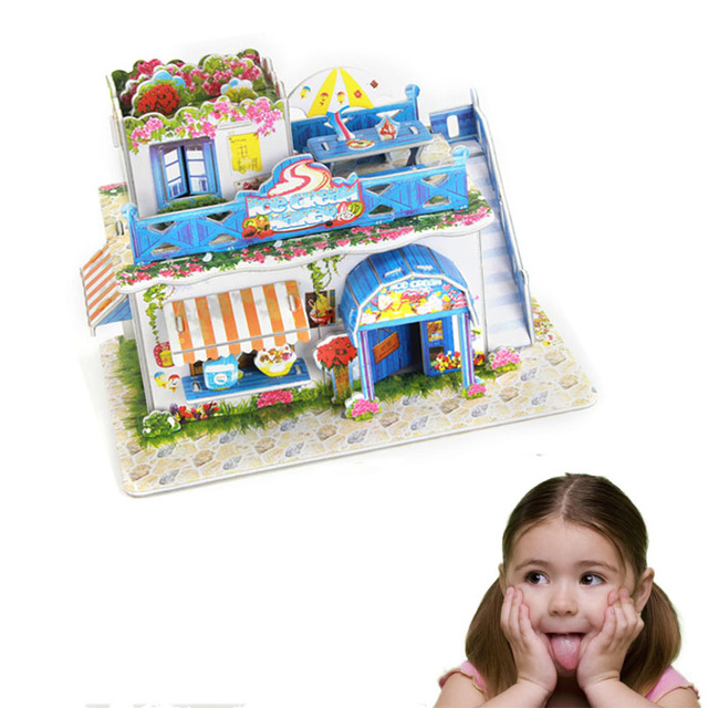 newstyle shop architecture model 3d jigsaw puzzles paper educational