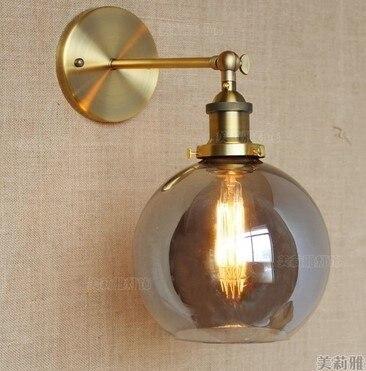 Compre apliques pared levou retro luzes lumin rias edison loft estilo industrial - Apliques de pared rusticos ...