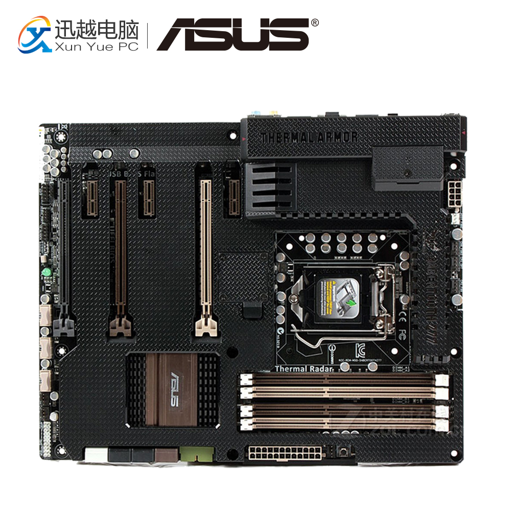 Asus SaberTooth Z77 Desktop Motherboard Include Thermal Armor Z77 LGA 1155 DDR3 32G USB3.0 ATX цена