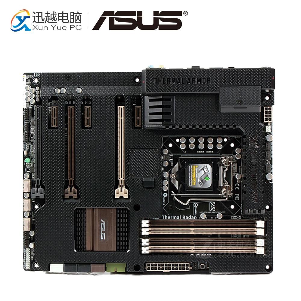 все цены на Asus SaberTooth Z77 Desktop Motherboard Include Thermal Armor Z77 LGA 1155 DDR3 32G USB3.0 ATX