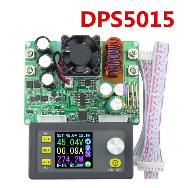 DPS5015 Power Supply Module Buck Voltage Converter Constant Voltage Current Step-Down Programmable LCD Voltmeter 15A solar energy wind power regulator charging automatic buck voltage constant voltage constant current adjustable power supply