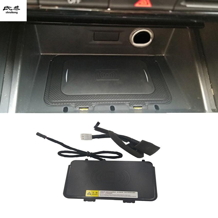 10W QI chargeur de téléphone sans fil de charge rapide plaque de charge support pour téléphone pour 2018 2019 Volkswagen VW T-ROC