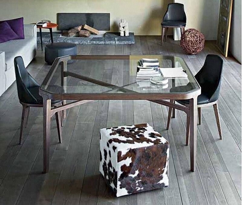 Nordic IKEA de comedor cristal mesas de comedor de madera muebles de ...