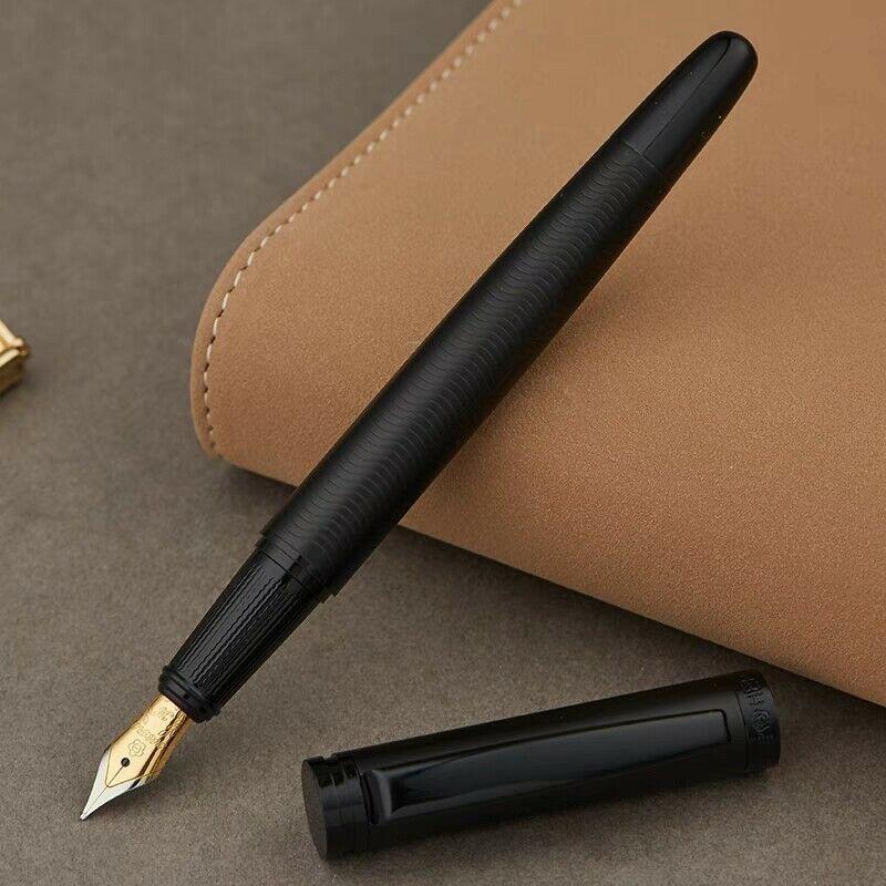Hero 737 Matte Black Fountain Pen Ink Pen Fine Nib Converter Filler Business Stationery Office School Supplies Writing Gift