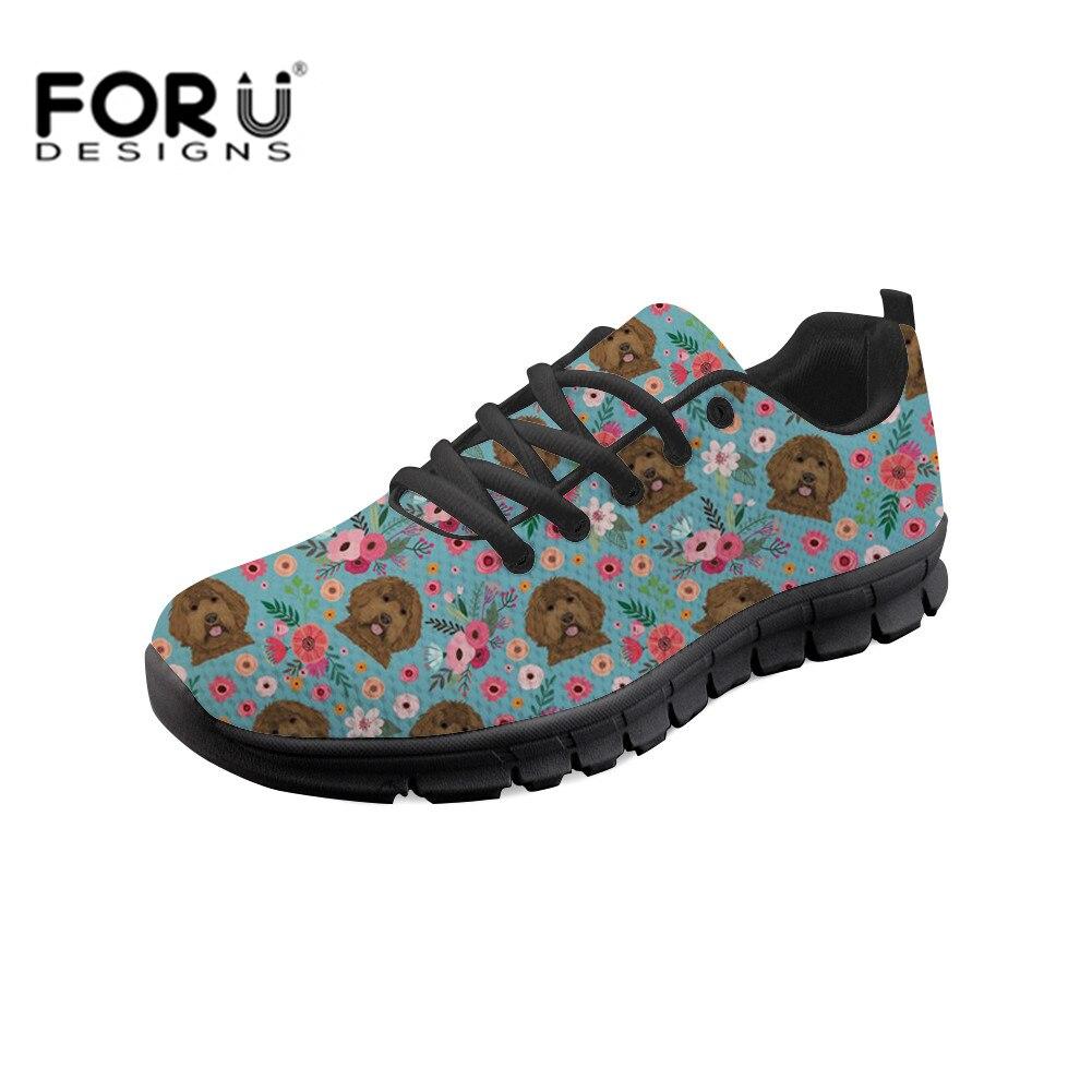 FORUDESIGNS noir Labrador imprime femmes vulcaniser chaussures chaussures à lacets femmes loisirs filles femme marche baskets chaussures