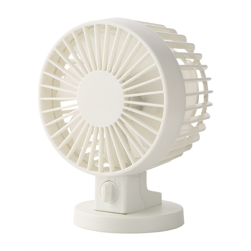 LUCOG Mini USB Desk Fan Office Mini Cooler Cooling Silent Desktop Fan With Double Side Blades Super Mute Silent