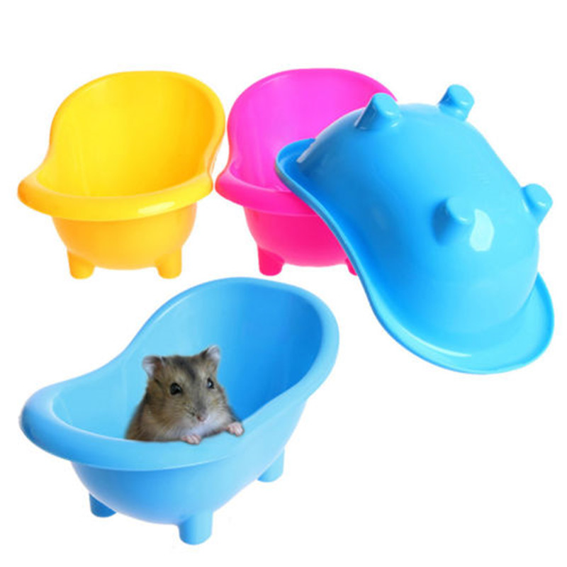 1 Piece Plastic Rats Mice Bathtub Hamsters Gerbil Sand Bathing Supplies Small Pets Cleaning Accessories Guinea Pig Toy plastic