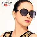 SUNRUN TR90 Mujeres Polarizadas gafas de Sol Nuevo Diseñador de la Vendimia gafas de Sol Retro Gafas UV400 gafas de sol 6008