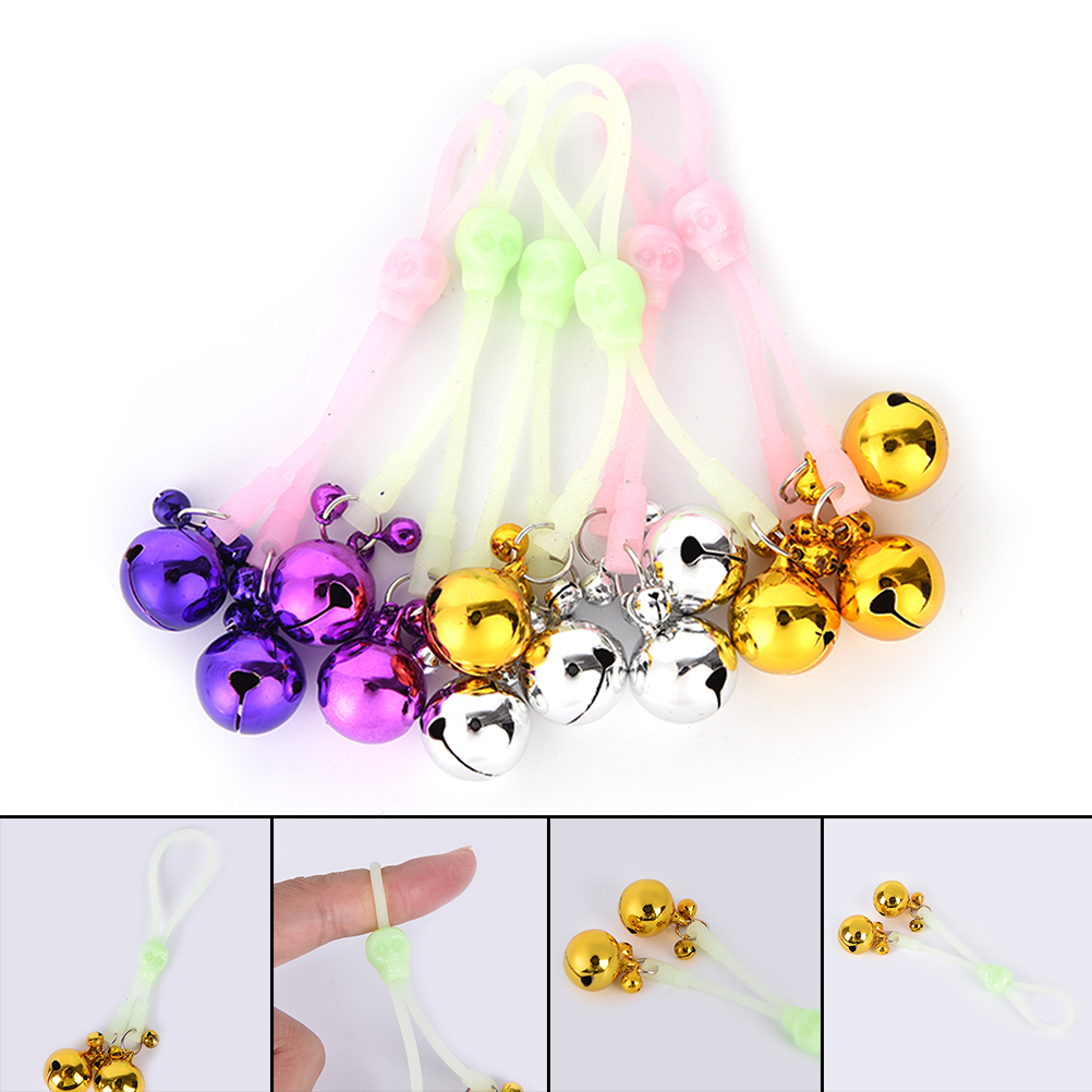Buy 1 Pair Luminous Silicone Rope Nipple Clamps, Fetish bdsm Bondage Adjustable Nipple Clips Bells Couples Party DIY Decoration
