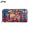 Fashion Credit Card Holder Wallet For Women New Hot Selling Graffiti Students Long Wallet Purse Womens Card Holder Pocket
