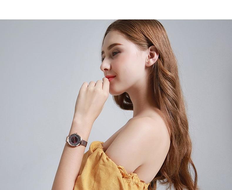 Julius marca de luxo colorido mulher relógios