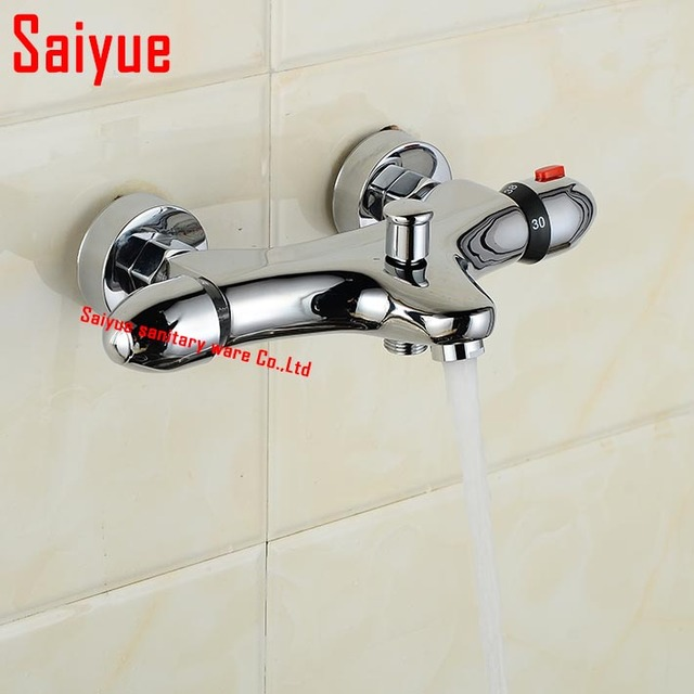 Thermostatic mixing valve Bathroom Shower Faucet Wall Mount ...