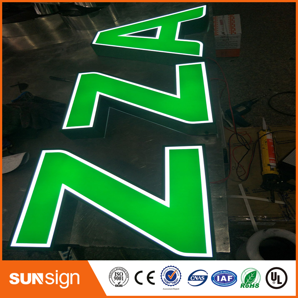 LED Light Illuminated Advertising Sign