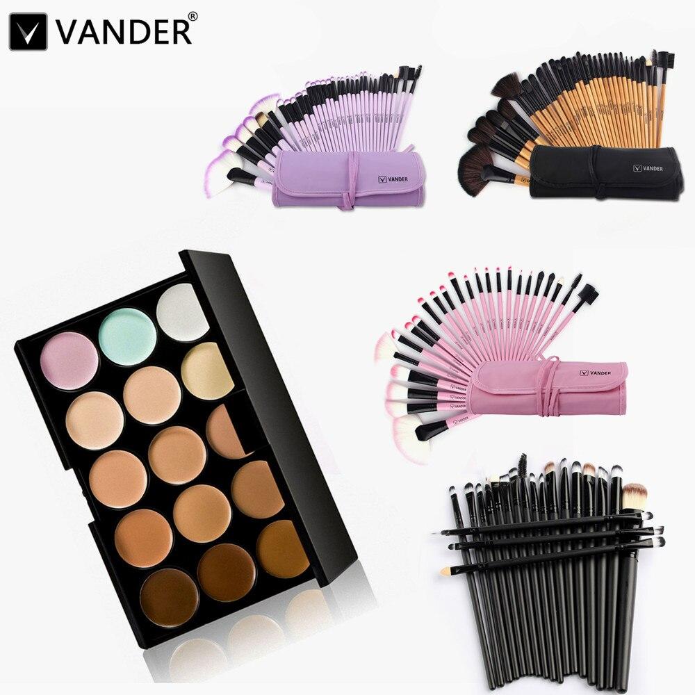 15 Colors Contour Face Cream Makeup Cosmetic Concealer Palette Make Up Kits + 5/20/24/32pcs Professional Maquiagem Brushes Sets