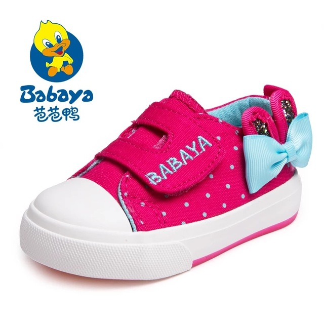 2016 casual brand designer low top polka dot bowtie slip on soft outole canvas toddle girls casual shoes girl baby first walkers