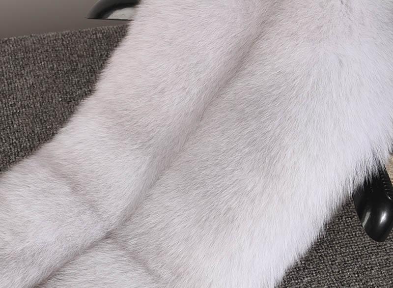 fox skin scarf big fox fur scarf (18)
