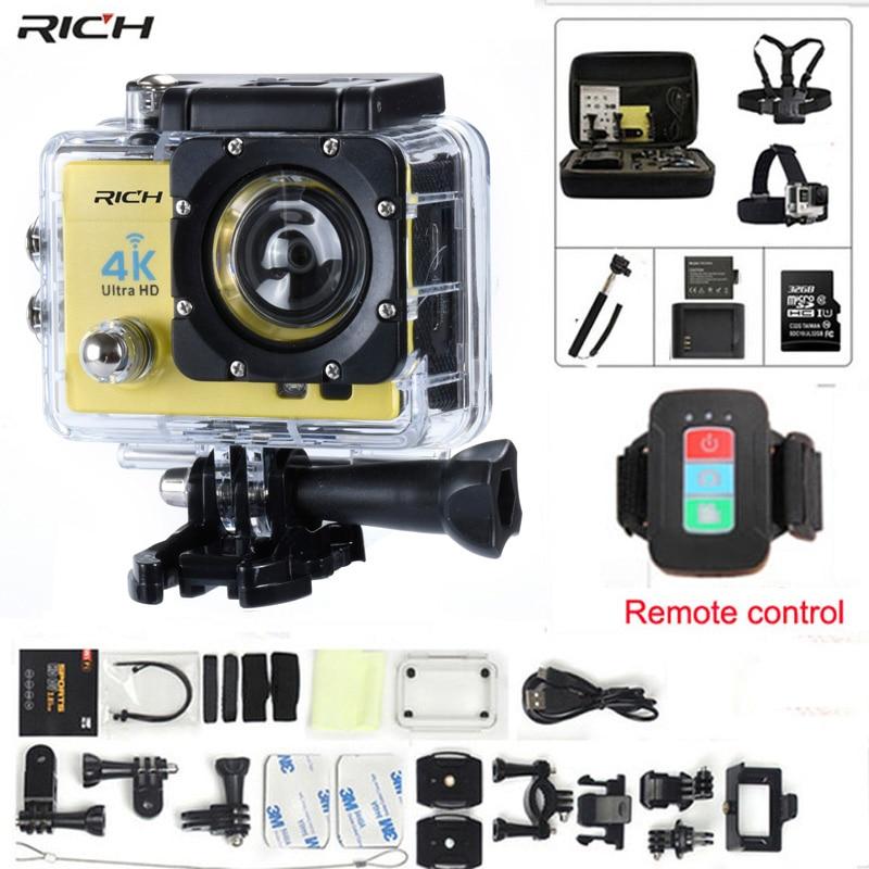 Action camera gopro hero 4 Stlye Q3H télécommande Full HD 1080 p Wifi 170 grand-angle Étanche 30 m sports extrêmes caméra