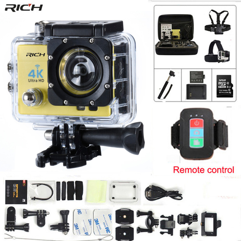 Action camera gopro hero 4 Stlye Q3H Remote control Full HD 1080P Wifi 170 wide-angle lens Waterproof 30M Extreme Sports camera цена