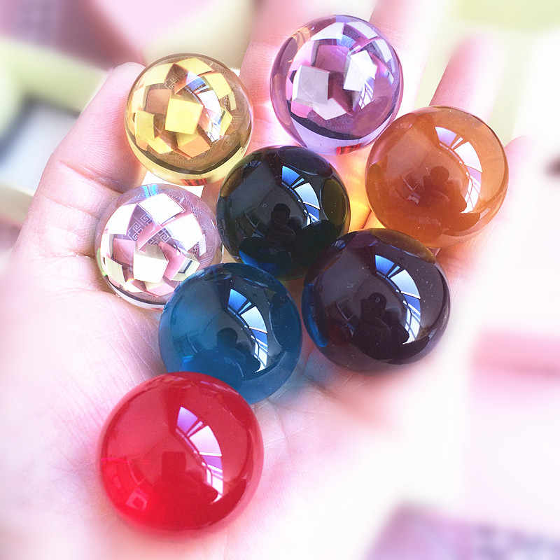 30mm Rare Multicolor Quartz Crystal Glass Magic Ball Feng Shui Crystal Healing Ball Sphere Products For Kids Birthday Gifts