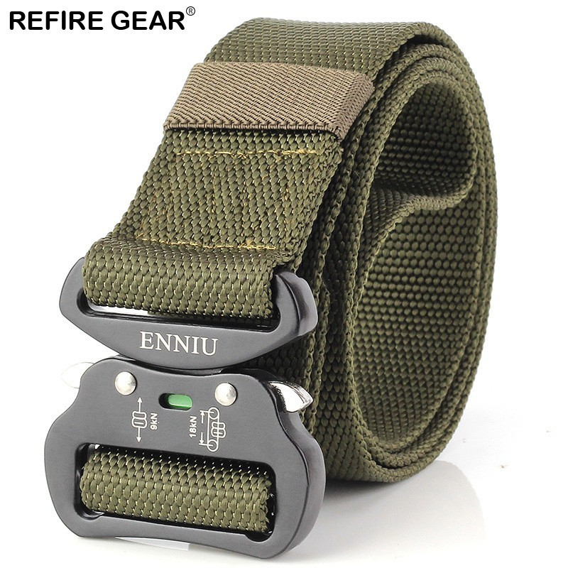 Refire Gear Outdoor Sport Tactical Belts Men Nylon Metal Buckle Military Equipment Waist Belts Strap High Quality Army Belts Street Price