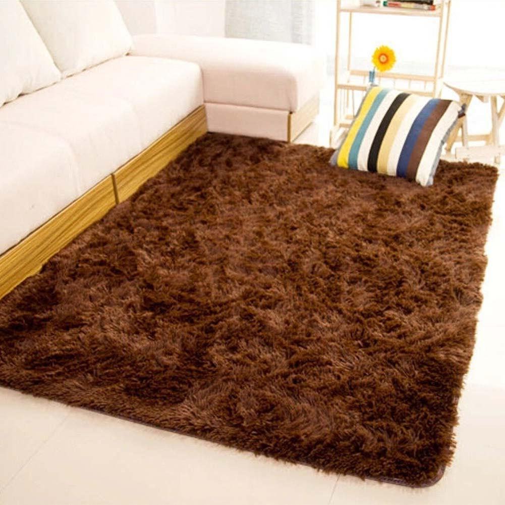 Fluffy Rugs Anti Skiding Shaggy Area Rug Dining Room Carpet Floor Mats  Brown Shaggy Rugs Shag Rugs APJ In Carpet From Home U0026 Garden On  Aliexpress.com ...