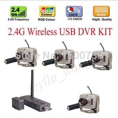 2.4G Wireless USB DVR KIT 2.4G Camera surveillance wireless security system